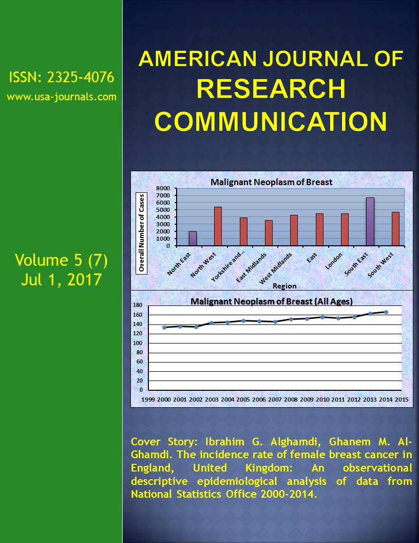 Volume 5(7) | American Journal of Research Communication